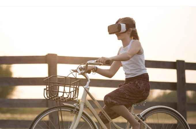 VR 自転車
